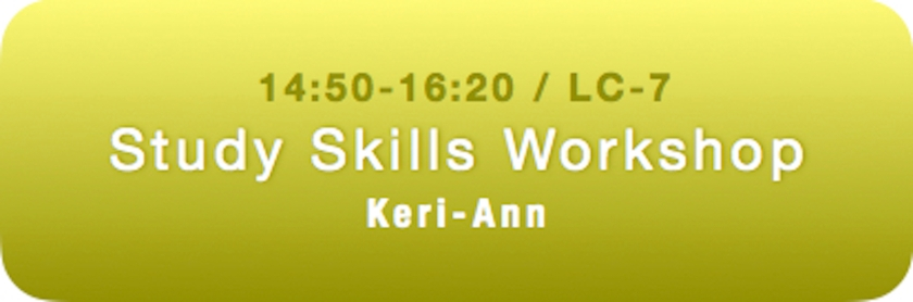 Keri-Ann Study Skills Workshop Spring 2018