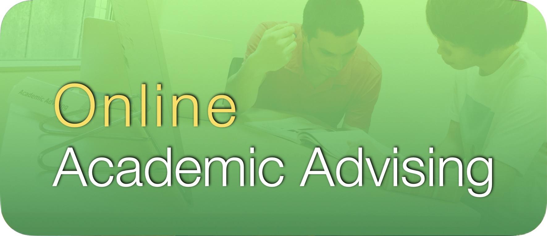 Online Academic Advising Button 2020